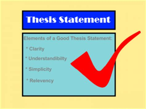 The Importance of Writing an Effective Thesis Statement